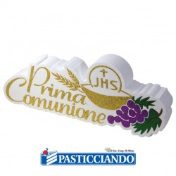 Selling on-line of Scritta comunione polistirolo Big Party