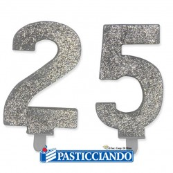 Vendita on-line di Candele 25 argento Big Party