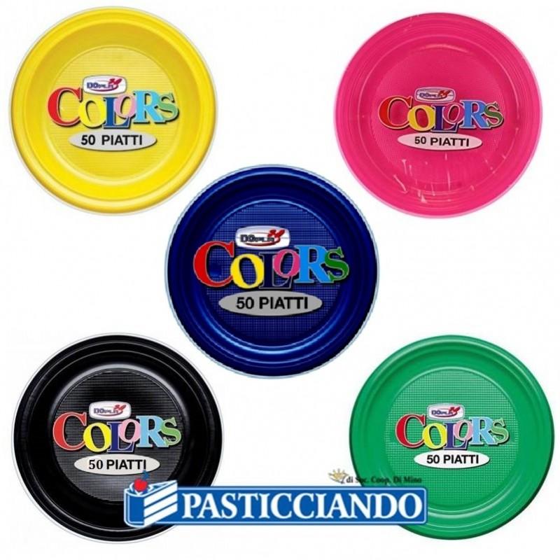 Piatti in plastica monocolore - Big Party