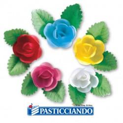 Vendita on-line di Rose piccole con foglie Floreal