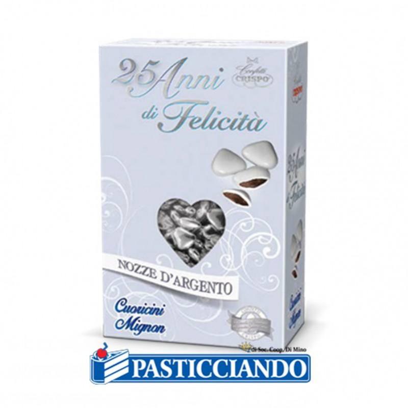 Cuoricini cioccolato argento - Crispo s.r.l.