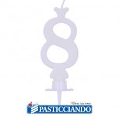 Vendita on-line di Candela numero 8 bianca GRAZIANO
