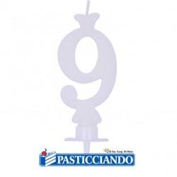 Vendita on-line di Candela numero 9 bianca GRAZIANO