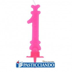 Selling on-line of Candela numero 1 rosa GRAZIANO