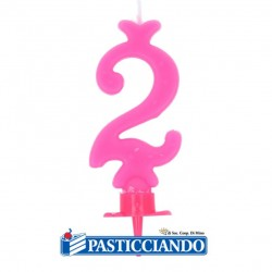 Selling on-line of Candela numero 2 rosa GRAZIANO
