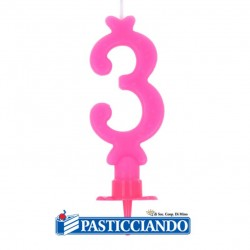 Selling on-line of Candela numero 3 rosa GRAZIANO