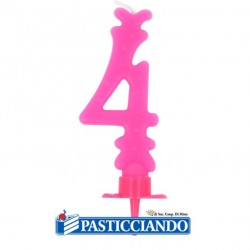 Selling on-line of Candela numero 4 rosa GRAZIANO