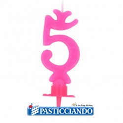 Selling on-line of Candela numero 5 rosa GRAZIANO