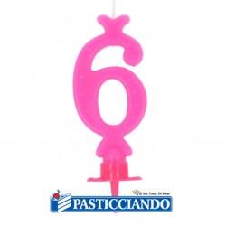 Selling on-line of Candela numero 6 rosa GRAZIANO
