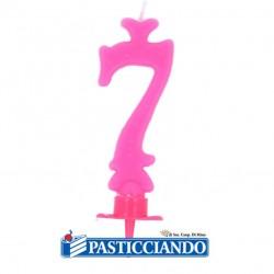 Vendita on-line di Candela numero 7 rosa GRAZIANO