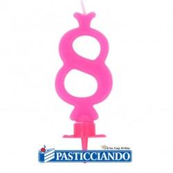 Vendita on-line di Candela numero 8 rosa GRAZIANO