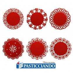 Vendita on-line di Centrino feltro rosso GRAZIANO