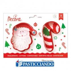 Vendita on-line di Tagliapasta Babbo Natale Candy Cane Decora