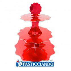 Selling on-line of Alzata rosso metal 3 piani Big Party