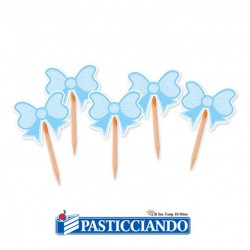 Vendita on-line di 25 picks fiocco celeste Big Party