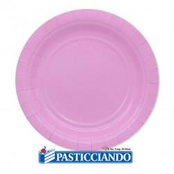 Selling on-line of Piatti rosa biodegradabili Big Party