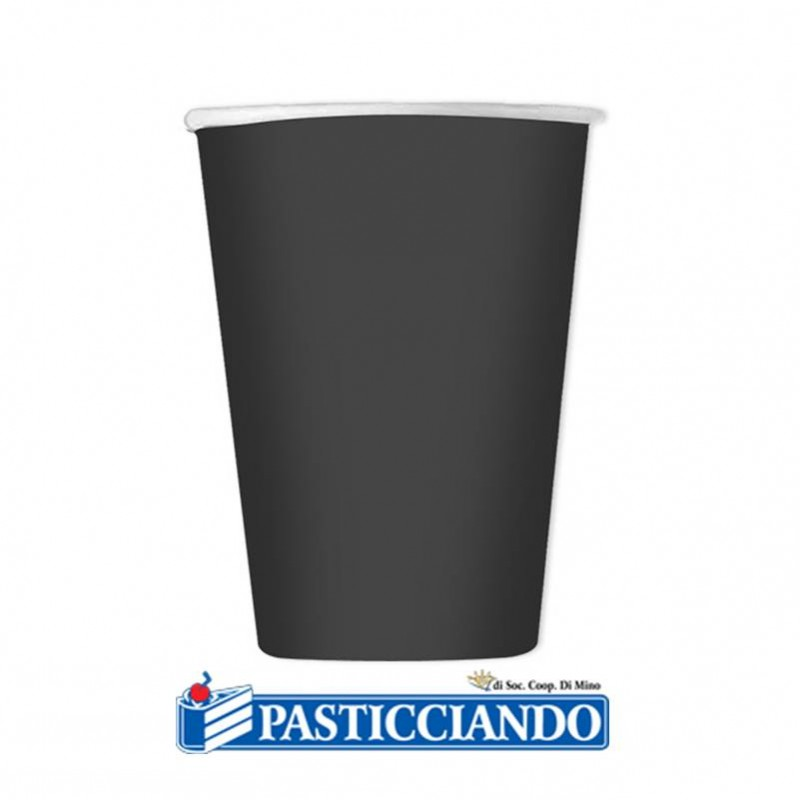Bicchieri neri biodegradabili - Big Party