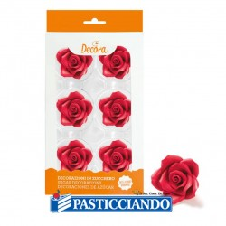 Selling on-line of Rose rosse grandi in zucchero