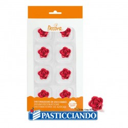 Selling on-line of Rose rosse piccole in zucchero