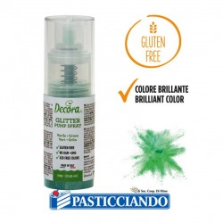 Vendita on-line di Glitter spray verde Decora