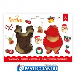 Vendita on-line di Tagliapasta Babbo Natale e Renna Decora