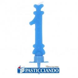 Selling on-line of Candelina azzurra numero 1 GRAZIANO