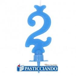 Vendita on-line di Candelina azzurra numero 2 GRAZIANO