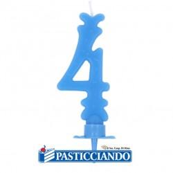 Selling on-line of Candelina azzurra numero 4 GRAZIANO