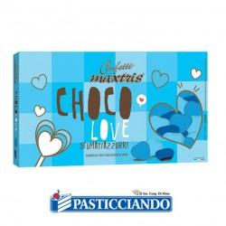 Vendita on-line di Confetti cuori piccoli sfumati azzurro Maxtris