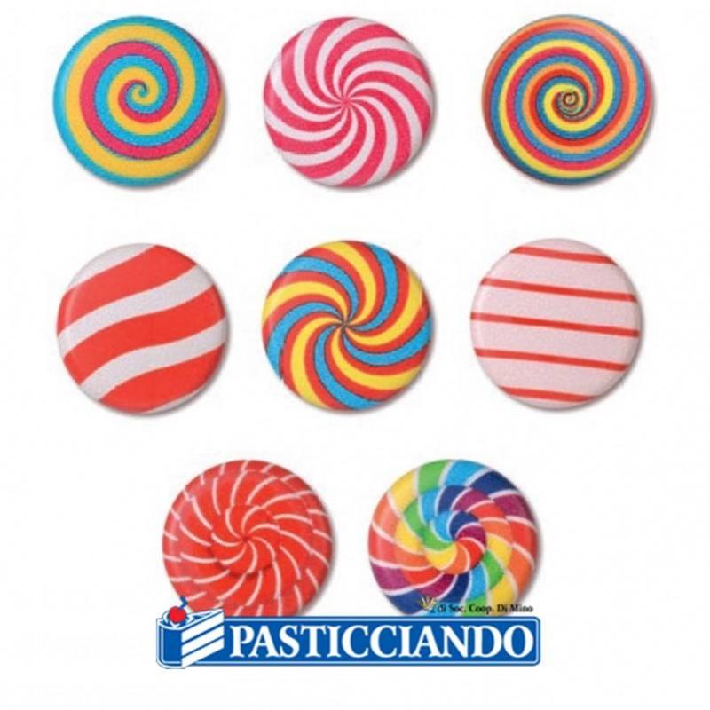 Spirali di cioccolato colorate 4pz - Modecor