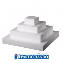 Vendita on-line di Base polistirolo 25X25 H5 cm