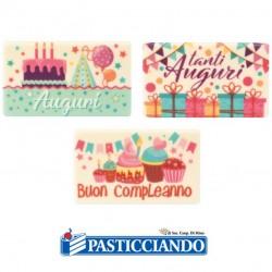 Selling on-line of Targhetta cioccolato auguri compleanno