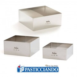 Selling on-line of Quadrato inox 26X26 H6 cm Decora