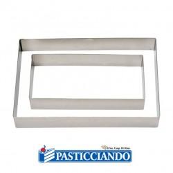 Selling on-line of Rettangolo inox 20X30 H4,5 cm Decora