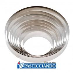 Vendita on-line di Cerchio inox D.14 H 4,5 cm Decora