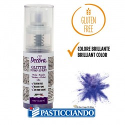 Vendita on-line di Glitter spray viola Decora