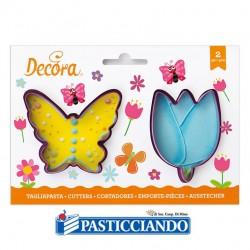 Vendita on-line di Tagliapasta fiore e farfalla Decora