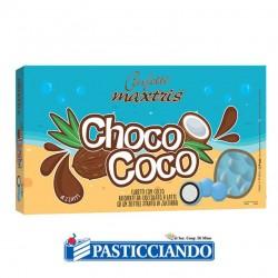 Vendita on-line di Confetti Choco Coco azzurri