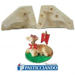 Vendita on-line di Stampo agnello in gesso 100gr