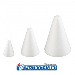 Vendita on-line di Coni polistirolo D.6 H6 cm 5pz