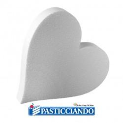 Vendita on-line di Cuore polistirolo D.40 H7,5 cm Decora