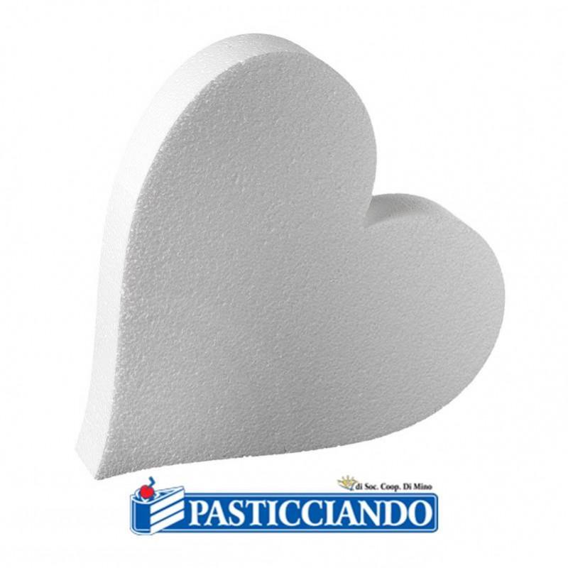 Cuore polistirolo D.40 H7,5 cm - Decora