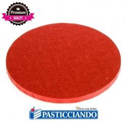 Selling on-line of Sottotorta rigido rotondo rosso D.25 H1,2 cm