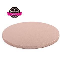 Vendita on-line di Sottotorta rigido rotondo rosa antico D.35 H1,2 cm Decora