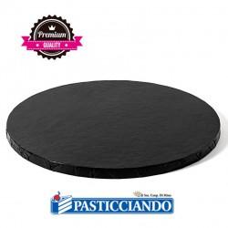 Vendita on-line di Sottotorta rigido rotondo nero D.35 H1,2 cm Decora