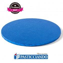 Vendita on-line di Sottotorta rigido rotondo azzurro D.35 H1,2 cm Decora