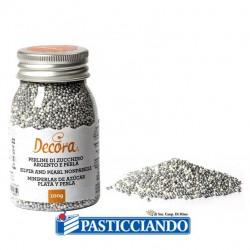 Vendita on-line di Perline zucchero argento e perla