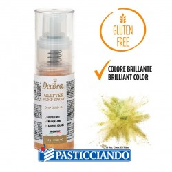 Selling on-line of Spray colorante glitter oro