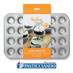 Vendita on-line di Teglia per mini muffin 24 cavità