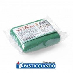 Vendita on-line di Pasta di zucchero model verde scuro 250gr